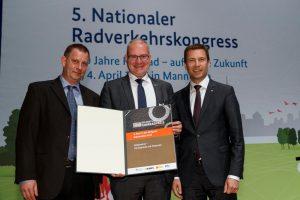 Gewinner der Kategorie Infrastruktur des 5. Nationalen Radverkehrskongress 2017.