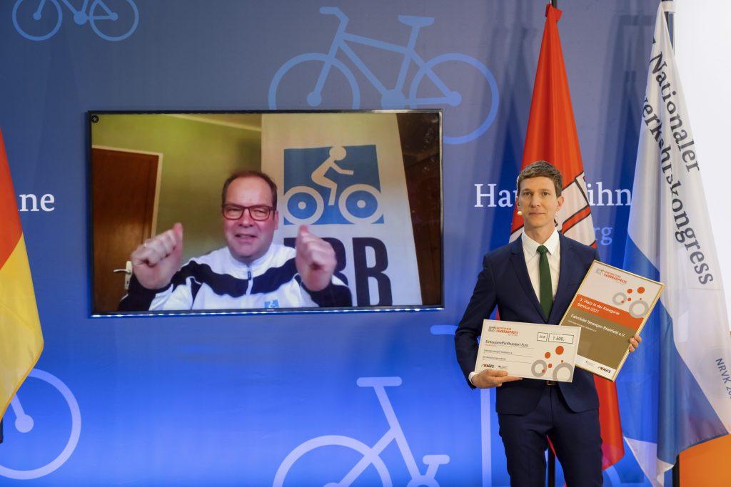 3. Platz in der Kategorie Service für Stefan Mielke von Fahrräder bewegen Bielefeld e.V.